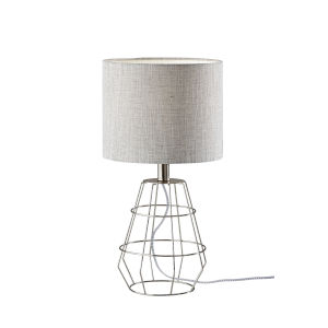 Victor Brushed Steel One-Light Table Lamp