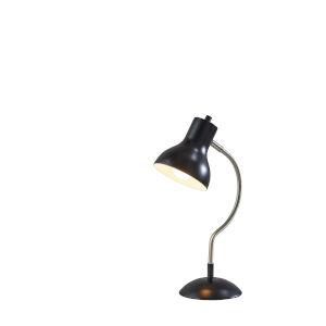 Elmhurt Black and Brushed Steel One-Light Desk Lamp