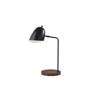 Jude Black and Walnut One-Light Desk Lamp