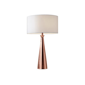 Linda Brushed Copper One-Light Table Lamp