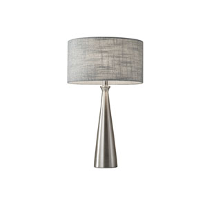 Linda Brushed Steel One-Light Table Lamp