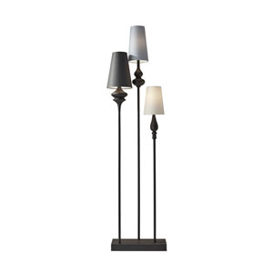 Jasmine Antique Bronze Three-Light Floor Lamp