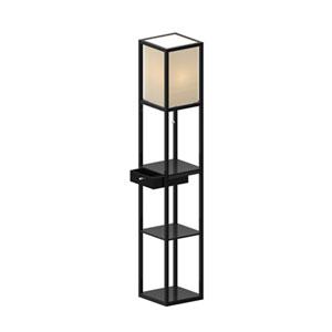 Parker Black One Light Shelf Floor Lamp