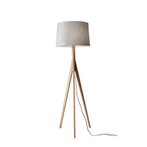 Eden Natural Ash Wood One-Light Floor Lamp