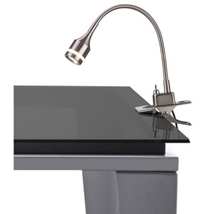 Prospect Brushed Steel One-Light LED Clip Lamp