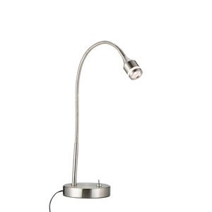 Prospect Brushed Steel One-Light LED Desk Lamp