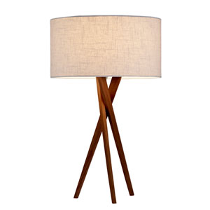 Brooklyn Walnut Wood One-Light Table Lamp