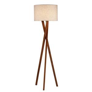 Brooklyn Walnut Wood One-Light Floor Lamp