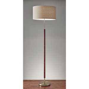 Hamilton Walnut One-Light Floor Lamp