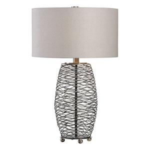 Sinuous Wavy Steel Mesh Lamp