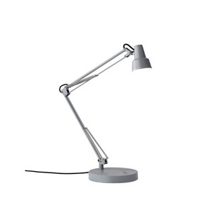 Quest Grey LED One-Light USB Port Desk Lamp