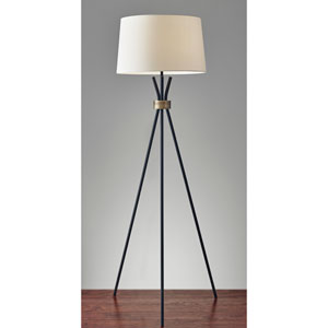 Benson Black One-Light Floor Lamp
