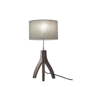Sherwood Pine Wood with Rustic Wash Black Finish One-Light Table Lamp