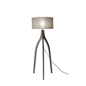 Sherwood Pine Wood with Rustic Wash Black Finish One-Light Floor Lamp
