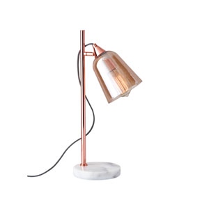 Marlon Shiny Copper One-Light Desk Lamp