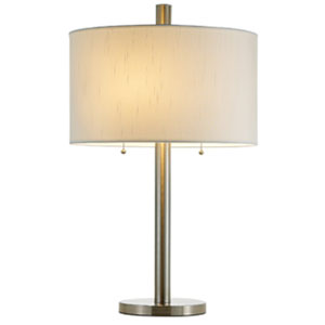 Boulevard Satin Steel Table Lamp