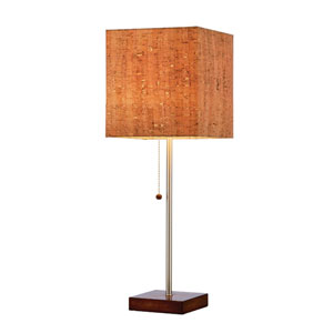 Sedona Walnut Table Lamp w/Natural Cork Shade
