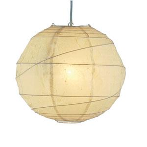 Orb Natural Tan One-Light Large Globe Pendant