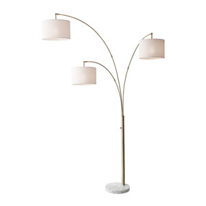 Bowery Antique Brass Three-Light Arc Lamp