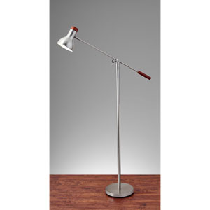 Watson Brushed Steel One-Light Floor Lamp