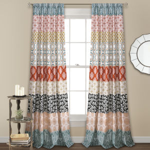 Bohemian Stripe 52 x 95 In. Window Curtain Panel, Set of 2