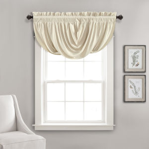 Lucia Beige 42 x 18 In. Single Window Valance