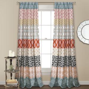 Bohemian Stripe 52 x 108 In. Window Curtain Panel, Set of 2