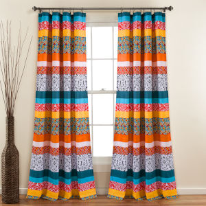 Boho Stripe 52 x 95 In. Window Curtain Panel, Set of 2