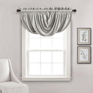Lucia Light Gray 42 x 18 In. Single Window Valance