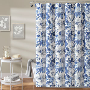 Sydney Blue and White 72 x 72 In. Single Shower Curtain