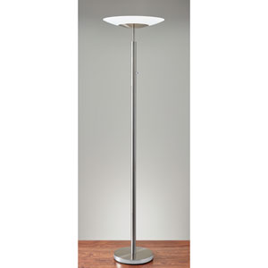 Stellar Brushed Steel One-Light LED Torchiere