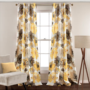 Leah Yellow and Gray 95-Inch x 52-Inch Panel Set