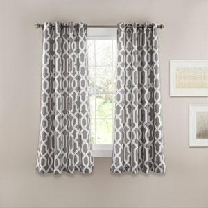 Edward Trellis Gray 63-Inch x 52-Inch Window Curtain Set