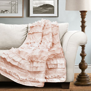 Belle Blush Pink Throw