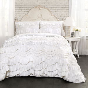 Kemmy White Twin Quilt Set