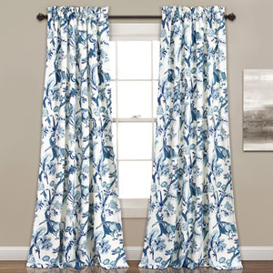 Dolores 84 x 52 In. Blue Curtain Set