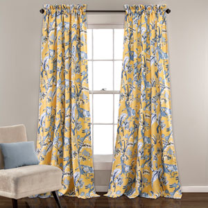 Dolores 84 x 52 In. Yellow Curtain Set
