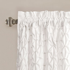 Bayview White 84 x 54 In. Curtain Set