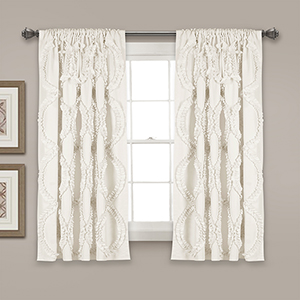 Avon White 63 x 54 In. Curtain Single Panel
