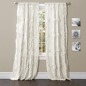Avon White 95 x 54 In. Curtain Single Panel