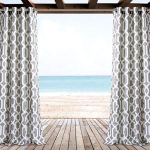 Edward Gray Trellis 84 x 52 In. Outdoor Window Curtain Panel