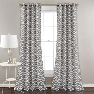 Diamond Gray Geo 84 x 52 In. Room Darkening Window Curtain Panel