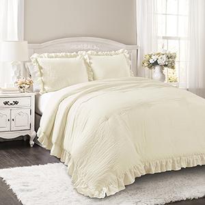 Reyna Ivory Full/Queen Three-Piece Comforter Set