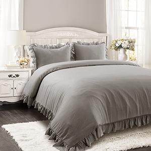 Reyna Gray Full/Queen Three-Piece Comforter Set