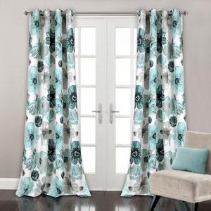 Leah Blue 84 x 52 In. Room Darkening Window Curtain Set