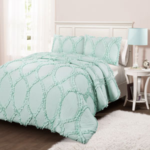 Avon Light Aqua Twin Two-Piece Comforter Set