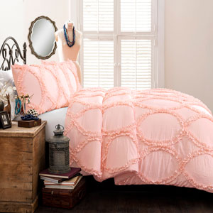 Avon Pink Twin Two-Piece Comforter Set