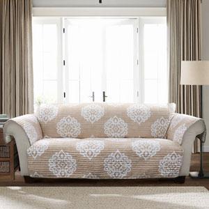 Sophie Taupe Single Sofa Furniture Protector