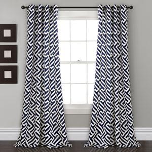 Giovana Navy 84 x 52 In. Room Darkening Window Curtain Panel Set