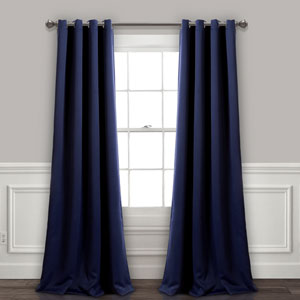 Navy 84 x 52 In. Insulated Grommet Blackout Curtain Panel Set